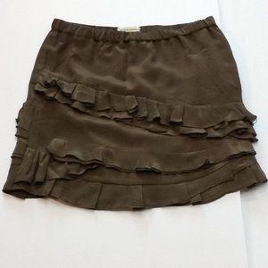 Banana Republic Silk Ruffled Mini Skirt